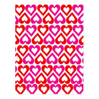 Cute Girly Love Hearts Postcard