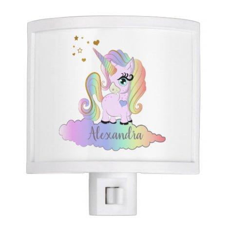 Cute Girly Magical Unicorn Night Light