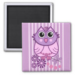 Cute girly magnet with Baby Owl