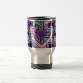 Cute Girly Neon Lighted Heart Design Travel Mug
