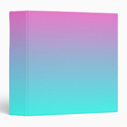 cute girly ombre mermaid pink Fuchsia turquoise Binder