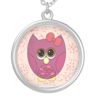 Cute girly owl necklace
