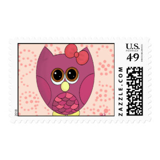 Cute girly owl stamps