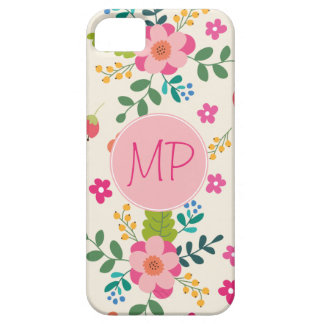 Cute Girly Pastel Spring Flower Pattern iPhone SE/5/5s Case
