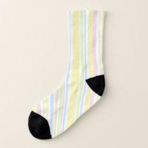 Cute Girly Pastel Vertical Stripe Pattern Socks
