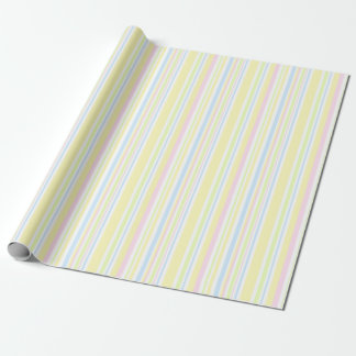 Cute Girly Pastel Vertical Stripe Pattern Wrapping Paper