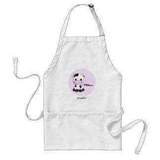 Cute girly pink cow cartoon customizable apron