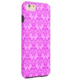 Cute Girly Pink Damask Tough iPhone 6 Plus Case
