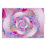 Cute Girly Pink Floral Vector Rose Card