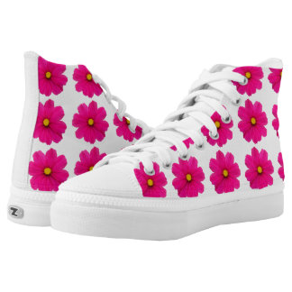 cute girly pink flower pattern shoes