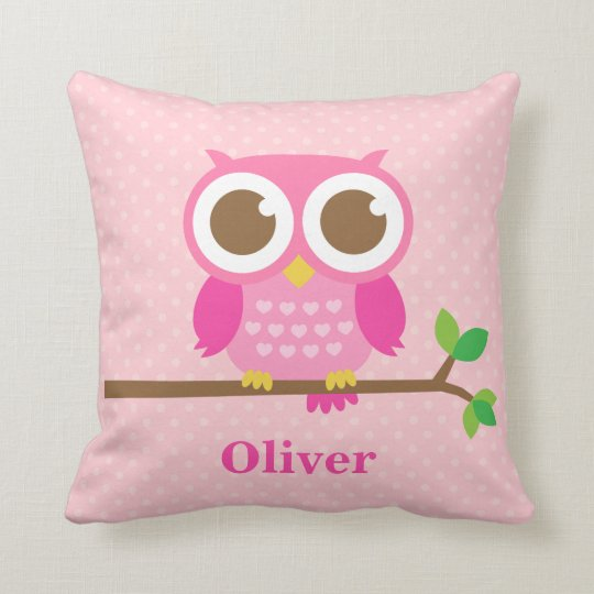 Girly Pink Nursery Decor: Cute Girly Pink Owl On Branch Girls Room Decor Throw