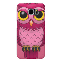 Cute Girly Pink Owl SAMSUNG GALAXY S6 CASE