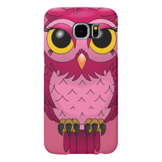 Cute Girly Pink Owl SAMSUNG GALAXY S6 CASE
