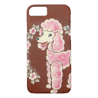 Cute Girly Pink Poodle Dog iPhone 8/7 Case