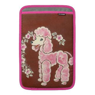 Cute Girly Pink Poodle Dog MacBook Air Sleeve
