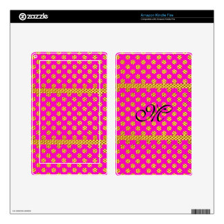Cute Girly Pink Trendy Bling Glitter Gold Pattern Skins For Kindle Fire