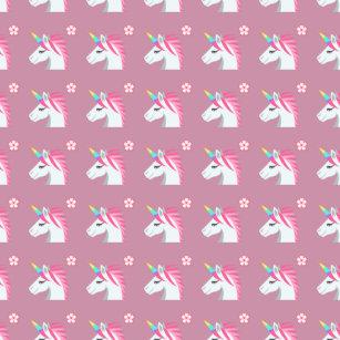 Flower emoji keychains zazzle cute girly pink unicorn flower emoji pattern keychain mightylinksfo Images