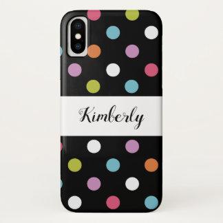Cute Girly Polka Dots iPhone X Case