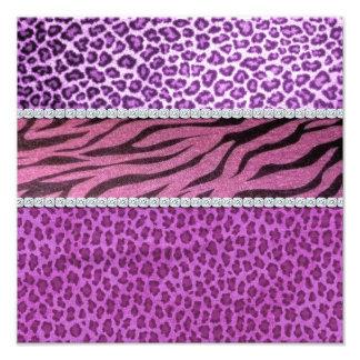 Cute Girly Purple Animal Print Diamond Photographic Print