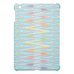 Cute Girly Rainbow over Teal Blue Zigzag Case For The iPad Mini