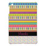 cute girly rainbow patterns dots stripes hearts iPad mini case