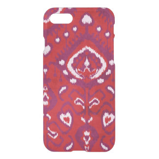 Cute girly red and purple ikat tribal patterns iPhone 8/7 case