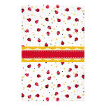Cute girly red white black ladybugs dots stationery paper