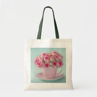 cute,girly,shabby,chic,vintage,roses,pink,fun,happ tote bag