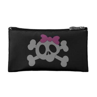 Cute girly skull makeup bag