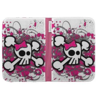 Cute Girly Skull Kindle 3 Cover