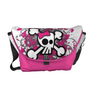Cute Girly Skull Messenger Bag