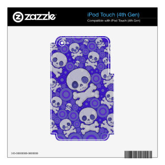 Cute Girly Skull Pattern iPod Touch 4G Decal