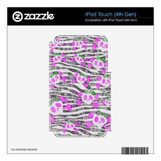 Cute Girly Skull Pattern Skin For iPod Touch 4G