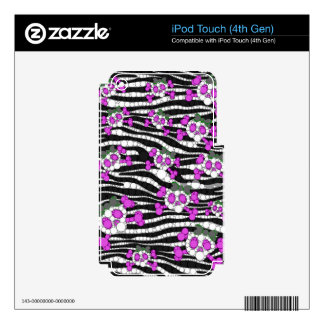 Cute Girly Skull Pattern Skins For iPod Touch 4G