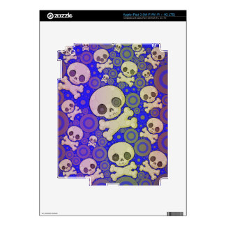 Cute Girly Skull Pattern Decal For iPad 3