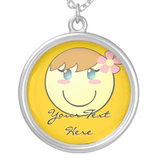 Cute Girly Smiley Necklace