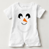 Cute Girly Snowman Face with Pearl Necklace Tees