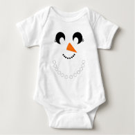 Cute Girly Snowman Face with Pearl Necklace Infant Creeper