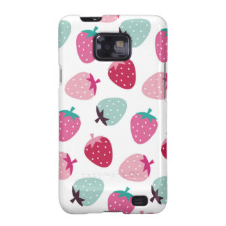 Cute,girly,strawberry,pink,mint,pattern,trendy,kid Galaxy SII Case