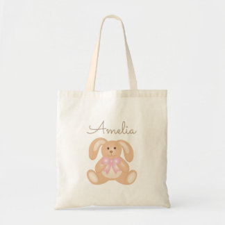 Cute Girly Sweet Adorable Baby Bunny Rabbit Tote Bag