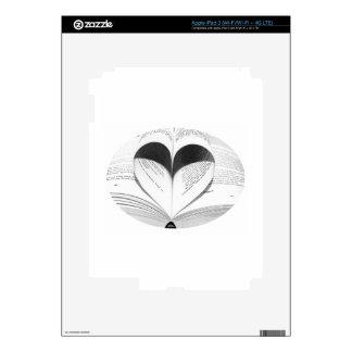Cute Girly Teacher Geek Heart Love Books Decals For iPad 3