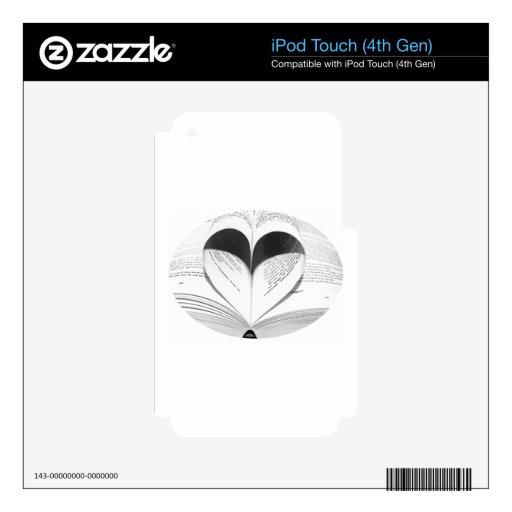 Cute Girly Teacher Geek Heart Love Books Decal For iPod Touch 4G