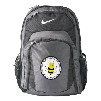 Cute girly trendy cheerful cartoon bee backpack
