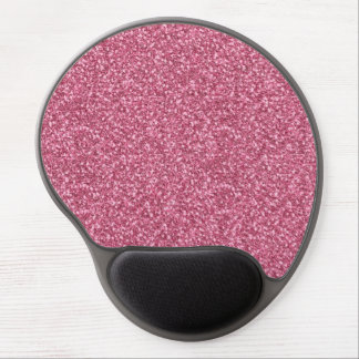 Cute girly trendy fashionable bubble gum pink gel mouse pad
