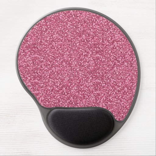 Cute girly trendy fashionable bubble gum pink gel mousepads