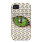 Cute Girly Unique Cat Eye Floral / House-of-Grosch Vibe iPhone 4 Case