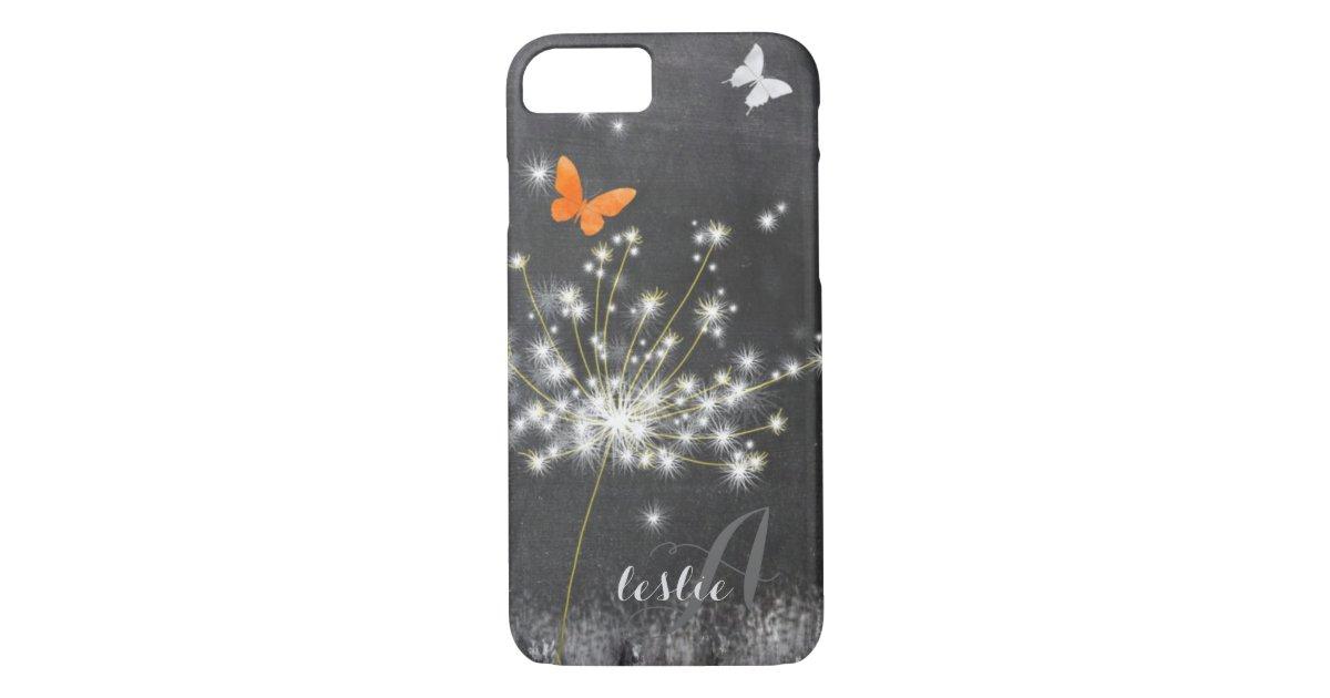 Cute Glittery Dandelion Case Mate Iphone Case Zazzle Com