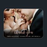 """Cute Glossy Rose Gold Thank You Photography Magnet<br><div class=""""desc"""">Create your own &#39;Cute Glossy Rose Gold Thank You Photography&#39; by Custom Photo Designs.</div>"""