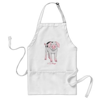 Cute Gloucestershire Old Spots Pig Adult Apron