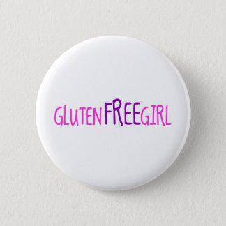 Cute Gluten Free Girl Button